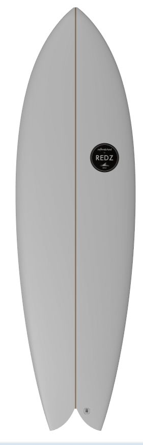 redz round classic logo twin fin