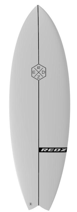 redz surfboard logo hexagon white