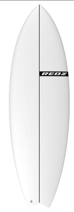 redz surfboard logo strpe only black nose
