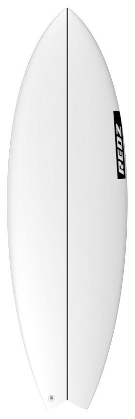 redz surfboard logo strpe only black side